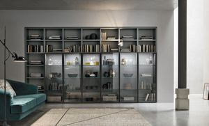 Comp. A053, Bookcase with glass doors