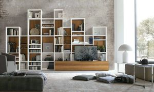 Comp. A086, Geometric design bookcase