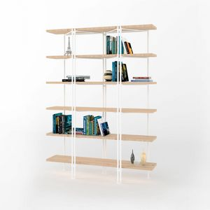 Dalton, Modular bookcase with iron structure