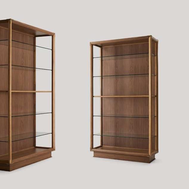 Didier bookcase, Modern wooden bookcase