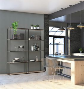 dl400 modus, Modular bookcases in aluminum