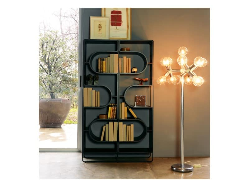 DNA, Bookcase made of black painted steel