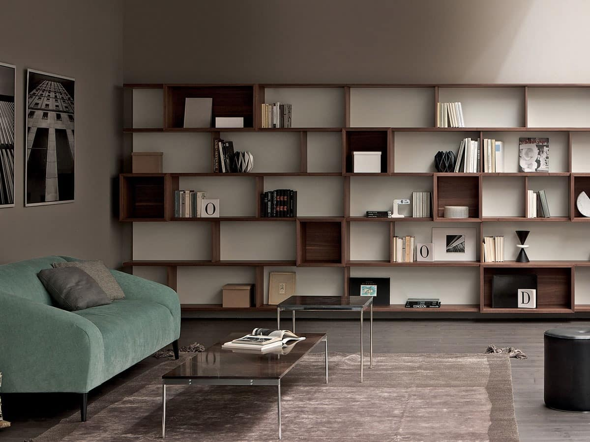E Wall Bookcase Storage Modular For Home And Office
