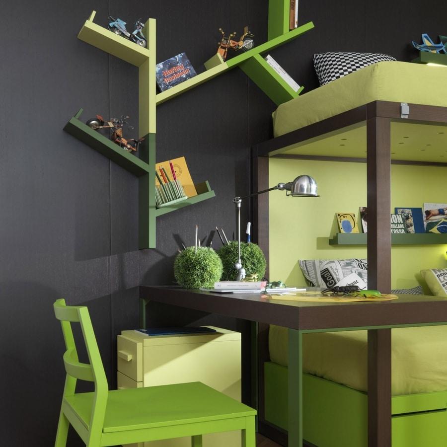 Easy tree, Modular bookshelf in the shape of a tree