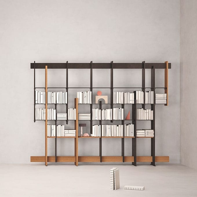 F.T.B., Iroko wood bookcase