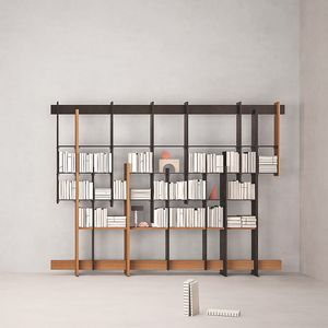 F.T.B., Iroko wood bookcase