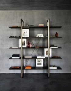 Frame Bookcase, Bookcase in metal and wood