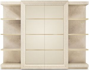 George modern, Bookcase with leather covered elements