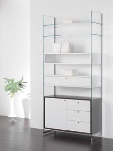 Glassystem comp.15, Wall modular cabinet