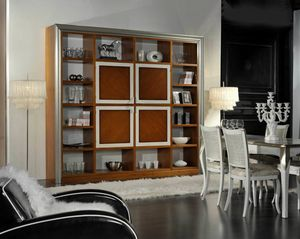 Granato, Wooden bookcase with central doors