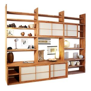 Haru-A, Custom bookcase with TV stand