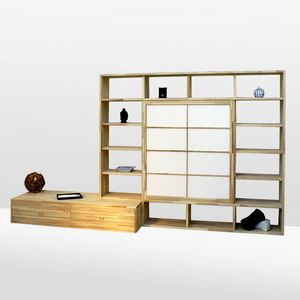 Haru-B, Beech bookcase, made to measure