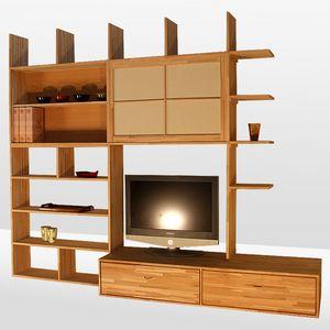 Haru-C, Customizable bookcase with sliding doors