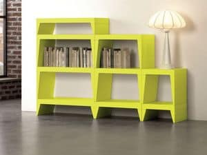 Herbert, Modular bookcase ideal for modern living rooms