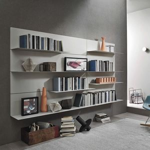 Lampo L5C38, Hanging bookcase with metal shelves