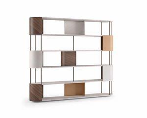 LB53 Gae bookcase, Bookcase made with fine materials