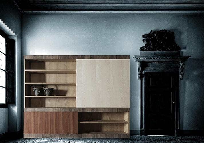 Maschera 3503, Modular bookcase, with sliding door