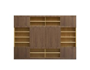 Maschera FS3510597, Bookcase with sliding doors