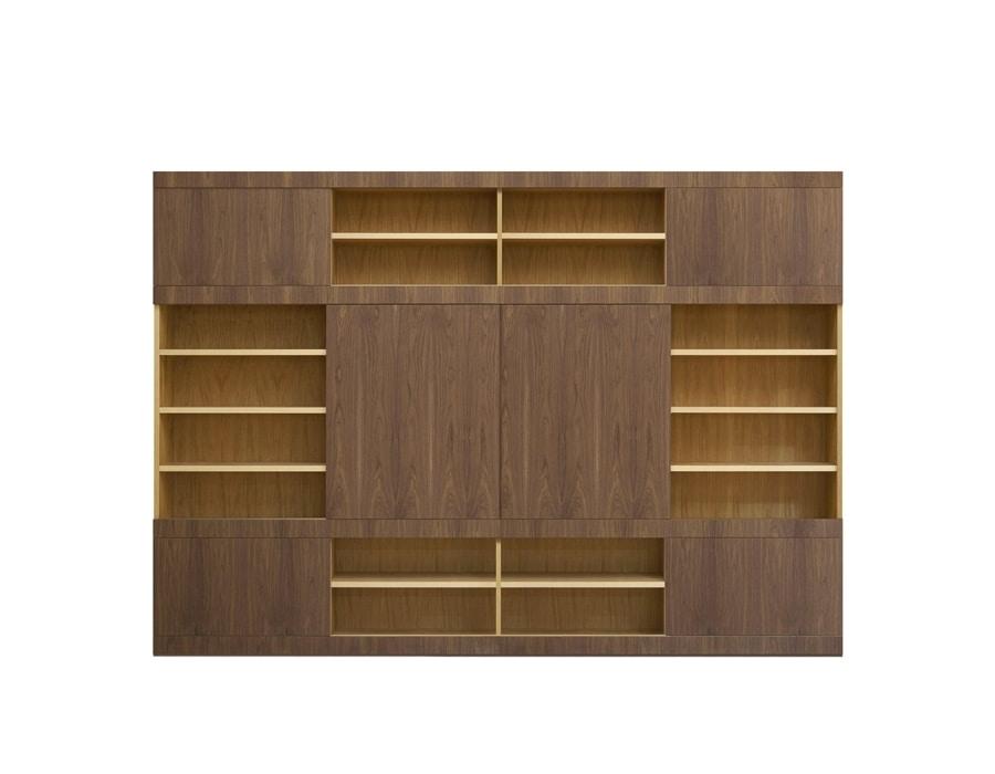 Maschera FS3510597, Bookcase with sliding doors