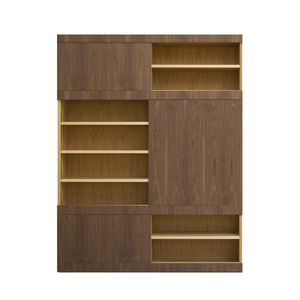 Maschera FS3510599, Wooden bookcase, with sliding doors