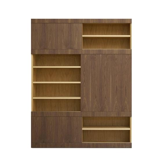 Maschera FS3510599, Wooden bookcase, with sliding doors