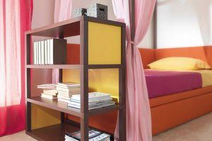 Modula quattro comp.01, Wooden bookcase
