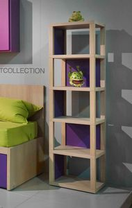 Modula quattro comp.04, Freestanding bookcase in wood