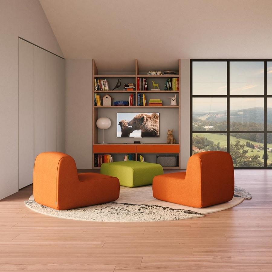 Modulari comp.02, Modular and customizable bookcase