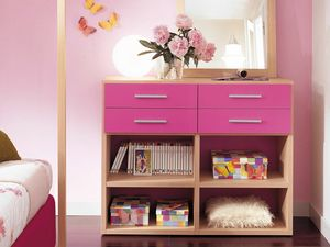 Modulari comp.04, Bookcase suitable for kid bedroom