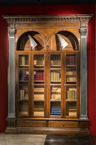 Montefioralle ME.0133, Revolving bookcase with hidden wine storage