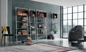 Movida, Bookcase with dynamic oblique lines