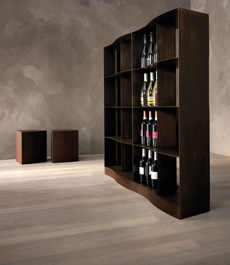 Napala, Shelving in iron with hand-made finishing