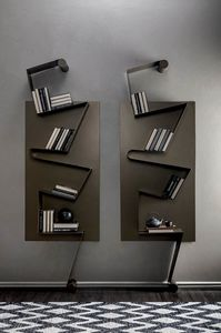 NOTA, Bookcase in lacquered metal