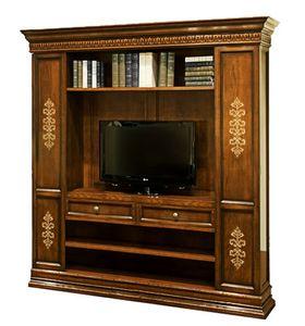 Parma CE.1116, Walnut inlaid bookcase