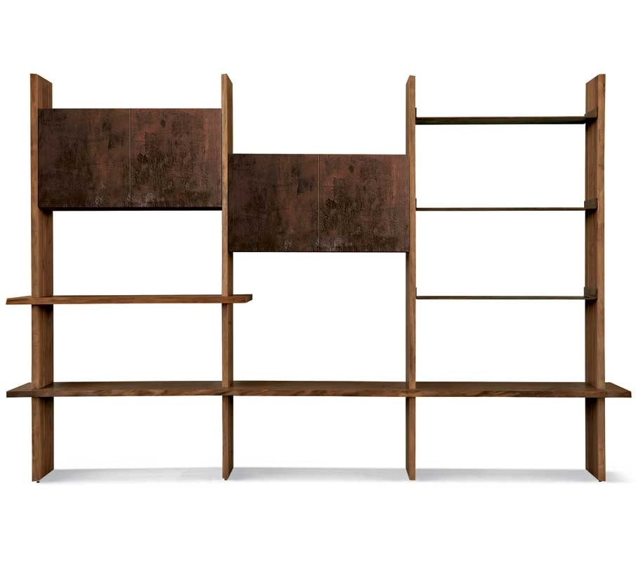 S-152, Wall bookcase equipped with doors and shelves
