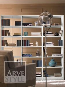 Salieri bookcase, Wooden bookcase, with a sober and elegant design