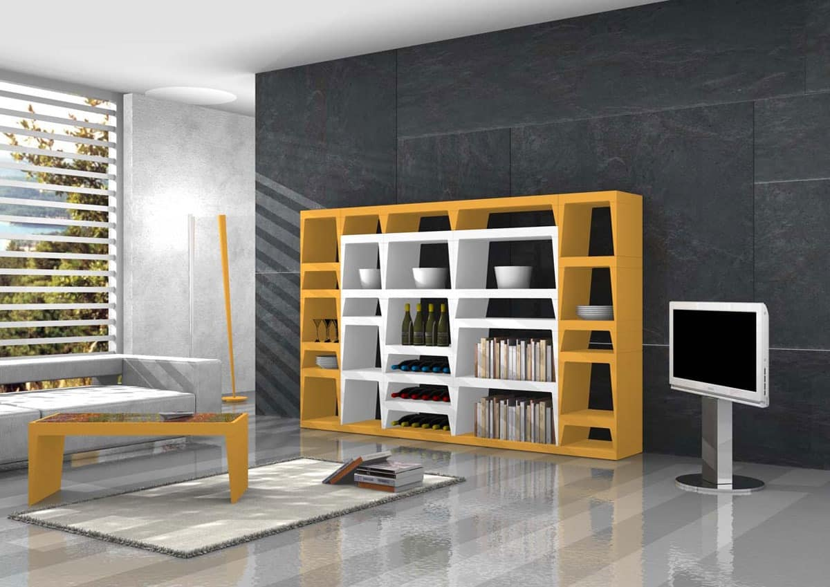 Shoeila, Design library in lacquered laminate