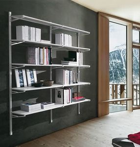 Socrate home, Mobile for books with glass shelves, for home use