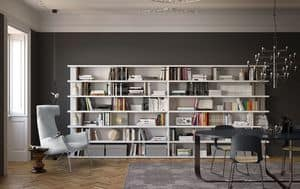 Spazioteca SP028, Free standing bookcase ideal for modern environments