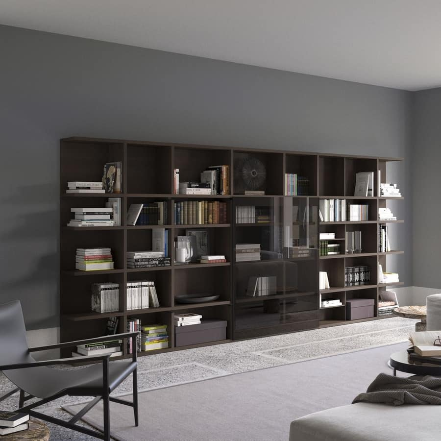 Spazioteca SP017, Modular bookcase, tailor-made, for professional use