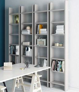 Step � Mood 5, Bookcase with an essential design