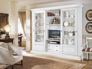 Stile bookcase, Equipped cabinet for elegant living rooms