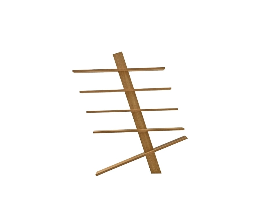 Supergiù 6299/F, Freestanding solid wood bookcase