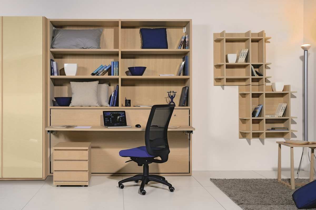 Surf LS441 desk, Bookcase with desk and folding bed