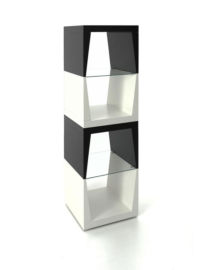 Totem, Column for objects with glass shelves