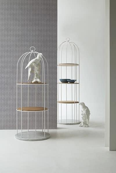 TWEET, Wooden original library, cage form