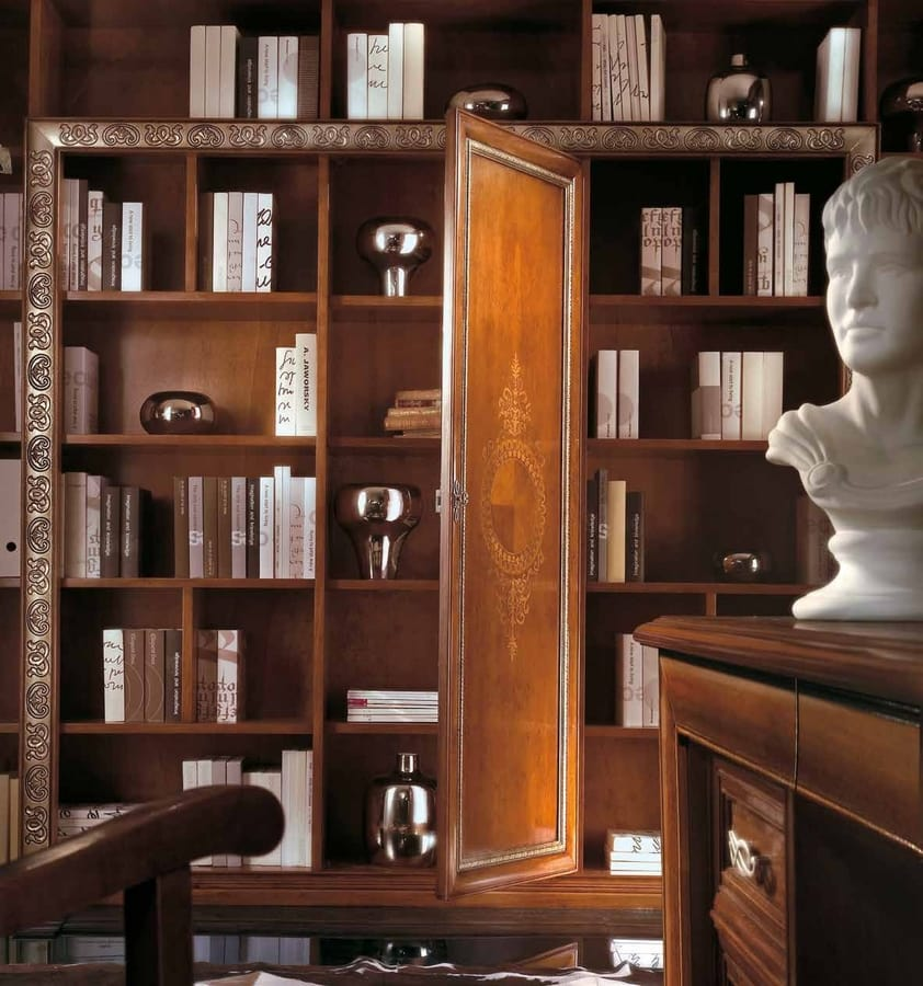 Vivre Lux bookcase, Classic bookcase, with personalized decorations