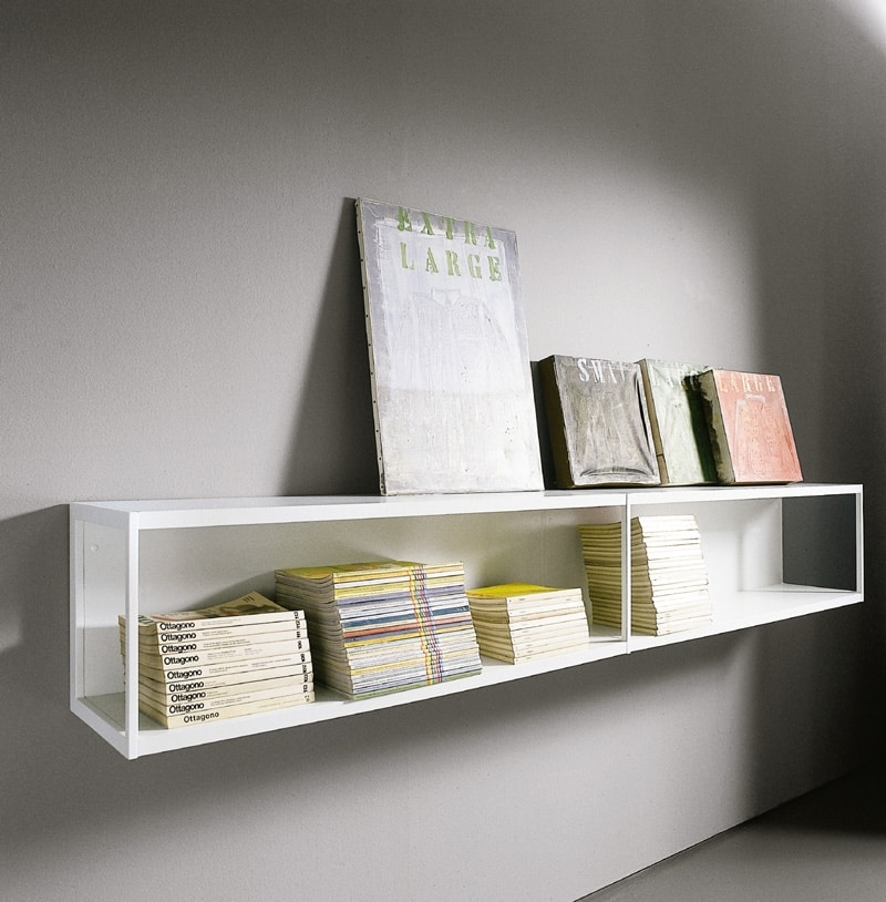 WALLBOX comp.01, Modern shelves, basic and functional structure
