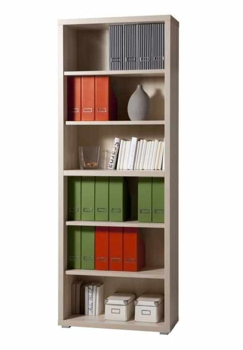Wooden Bookcase 6 Shelves Modern Design Office And Study MAGAZINE, Modern modular bookcase in wood