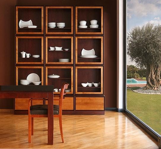Zero FS3410170, Bookcase with glass doors